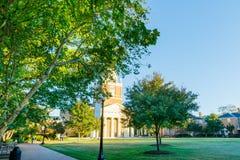 维克弗斯特大学的等待教堂 库存照片