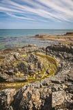 维克海岸线瑞典 免版税库存图片