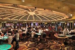 维加斯赌博娱乐场地板 免版税库存照片