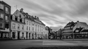 维堡,丹麦- 2016年11月23日:日出在维堡 免版税图库摄影