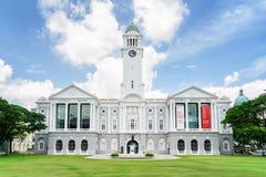 维多利亚剧院和音乐堂,新加坡的主要看法 库存图片