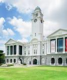 维多利亚剧院和音乐堂,新加坡的看法 库存图片