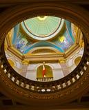 维多利亚加拿大议会大厦天花板  库存照片