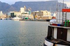 维多利亚和阿尔弗莱德江边,开普敦,南非 库存照片