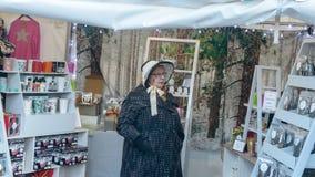 维多利亚女王时代的圣诞节市场-格洛斯特码头33 库存照片