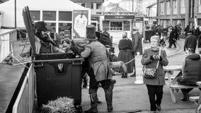 维多利亚女王时代的圣诞节市场-格洛斯特码头18 免版税库存照片