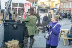 维多利亚女王时代的圣诞节市场-格洛斯特码头19 免版税库存图片