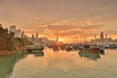 维多利亚港口HK地平线门户  库存图片