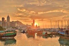维多利亚港口HK地平线门户  免版税图库摄影