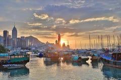 维多利亚港口HK地平线门户  库存照片