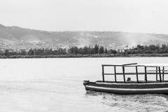 维多利亚湖海景视图  免版税库存照片