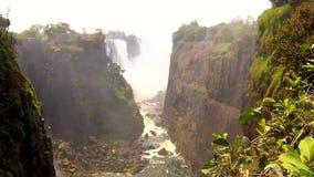 维多利亚瀑布视图,津巴布韦-录影 股票录像
