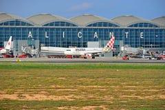 维奥莱特航空公司阿利坎特机场西班牙 免版税库存照片