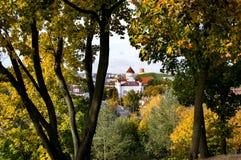 维尔纽斯历史的中心的秋天视图 免版税库存图片