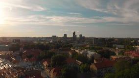 维尔纽斯大教堂广场鸟瞰图在夏日 影视素材