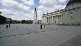 维尔纽斯广场大教堂  股票视频