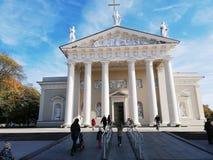 维尔纽斯立陶宛历史市的大厦 免版税图库摄影