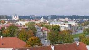 维尔纽斯镇从高度的 免版税库存图片