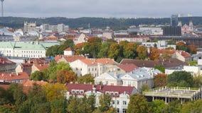 维尔纽斯镇从高度的 库存照片