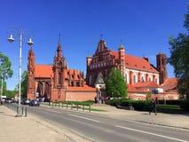 """维尔纽斯,立陶宛†""""2018年5月2日:圣安妮` s教会联合国科教文组织世界遗产 库存照片"""