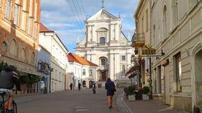 维尔纽斯,立陶宛- 2018年6月7日:圣Theres天主教会  免版税库存照片