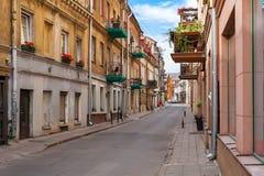 维尔纽斯,立陶宛- 2018年6月16日:维尔纽斯老镇在立陶宛 免版税图库摄影