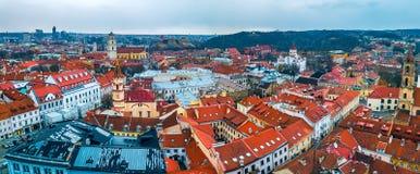 维尔纽斯,立陶宛-维尔纽斯老市 图库摄影
