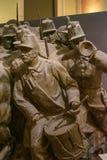 维托帕尔多-膏药剪影,绘在古铜的模仿,纪念碑的被修建以纪念争斗的Cialdini将军  免版税库存图片