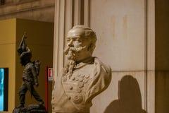 维托里奥・埃曼努埃莱・迪・萨伏伊胸象II 1876,阿尔塔雷della帕特里亚,罗马,意大利 免版税库存照片