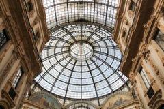 维托里奥Emanuele II画廊在米兰,意大利 免版税图库摄影