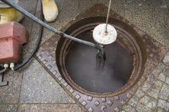 维护下水道 免版税库存照片