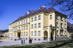 维斯瓦,波兰的市中心 库存照片