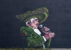 维森特费尔南德斯壁画Ponchavelli,达拉斯,得克萨斯 免版税库存图片