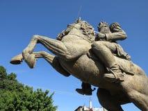 维森特Geurrero雕象在奇尔潘辛戈墨西哥 免版税库存照片