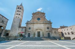 维泰博大教堂,圣徒佩莱格里诺区,维泰博,拉齐奥意大利 免版税库存照片