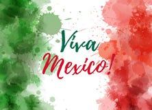 维瓦墨西哥背景 库存图片