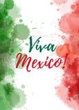 维瓦墨西哥背景 库存照片