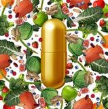 维生素食物补充 向量例证