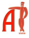维生素A和红萝卜 免版税库存照片