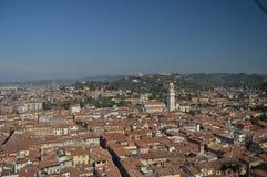 维罗纳从朗贝尔蒂塔的市视图在维罗纳 图库摄影
