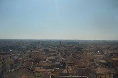 维罗纳从朗贝尔蒂塔的市视图在维罗纳 免版税图库摄影