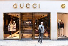 维罗纳,意大利2017年6月06日:古驰商店在维罗纳,意大利 免版税图库摄影
