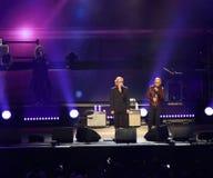 维罗纳,意大利- 2017年10月14日:生活音乐会室内翁贝托 免版税库存照片
