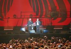 维罗纳,意大利- 2017年10月14日:翁贝托Tozzi生活音乐会  免版税库存图片