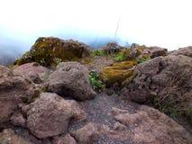 维苏威火山岩石  图库摄影