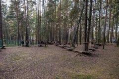 维萨吉纳斯,立陶宛- 2017年9月23日:操场在维萨吉纳斯镇,立陶宛 库存图片