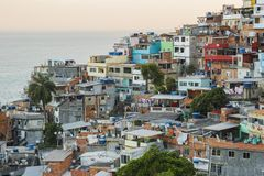 维迪加尔小山细节在里约热内卢 免版税图库摄影