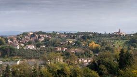 绵延山在托斯卡纳,意大利 库存照片