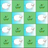 绵羊和植物节奏  向量例证