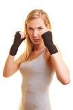 绷带拳击现有量妇女 库存照片